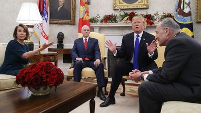 Bickering leaders spar over 'Trump shutdown'