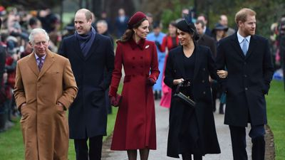 Royals greet Sandringham crowd after service