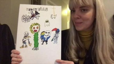 'My child wants to sell drawings to pay our bills'