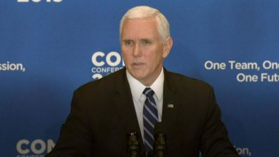 Pence says IS defeated despite Syria attack