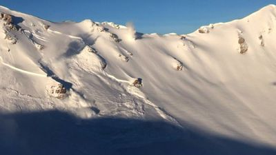 Controlled avalanches in Swiss Alps