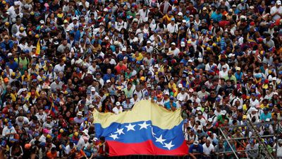 Mass protest against Venezuela's Maduro