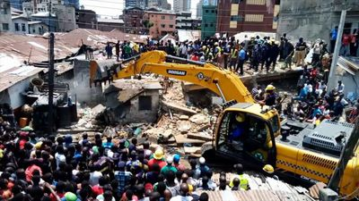 Rescue operation after Lagos school collapse