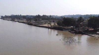 'The river has eaten my land'