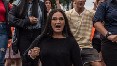 Students perform Haka for attack victims
