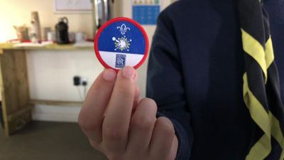 Tim Peake's science badge for Scouts
