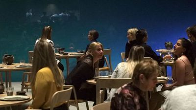 Europe's first underwater restaurant
