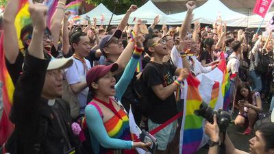 Taiwan celebrates same-sex marriage law