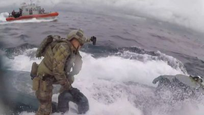 US Coast Guard raids 'drugs submarine'