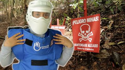 WATCH: The 24-year-old woman hunting for landmines