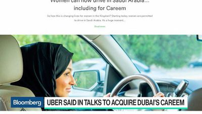 Bloomberg Technology - Uber Said to Be in Talks to Acquire Dubai's Careem
