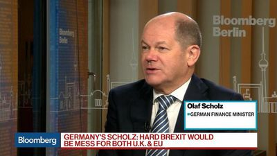 Bloomberg Surveillance - Germany's Scholz Sees Hard Brexit as 'Big Mess' for U.K., EU