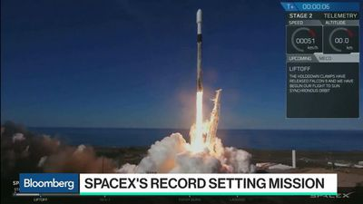 Bloomberg Technology - SpaceX Sets Company Record With 19th Launch of 2018