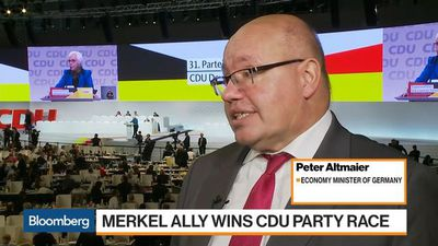Bloomberg Markets - German Economy Minister Says Kramp-Karrenbauer Win Bolsters Merkel
