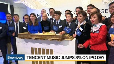 Tencent Music Jumps 8% on NYSE Trading Debut