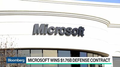 Bloomberg Technology - Microsoft Wins $1.76 Billion U.S. Defense Contract