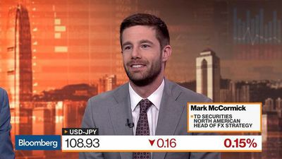 Yen May Rise to 95 Per Dollar, TD Securities' McCormick Says