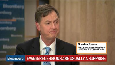 Fed's Evans Says He Won't Be Surprised If Funds Rate Is Higher at Year-End