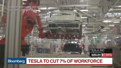 Bloomberg Surveillance - Tesla to Cut 7% of Workforce Citing 'Very Difficult' Road Ahead