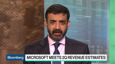 Bloomberg Technology - Microsoft Sales Meet Estimates But Cloud Concerns Hit Shares