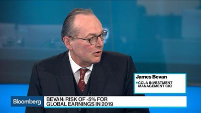 Bloomberg Surveillance - Global Corporate Earnings May Fall to -5% in 2019, CCLA Says