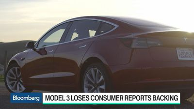 Bloomberg Technology - Tesla's Model 3 Loses Consumer Reports Recommendation