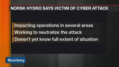 Bloomberg Markets: European Open - Cyber Attack Hits Norsk Hydro Operations Across Europe, U.S.