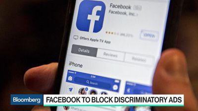 Bloomberg Technology - Facebook to Block Discriminatory Ads in Legal Accord