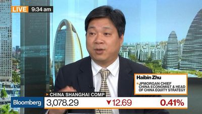 JPMorgan's Zhu Says Valuation in Chinese Market Becoming Less Attractive