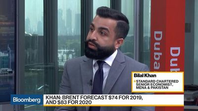 StanChart's Khan Sees Oil at $74 a Barrel for 2019