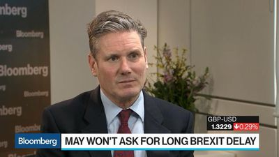Bloomberg Surveillance - Short Brexit Delay Likely Means May's Deal or No Deal, Starmer Says