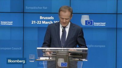 EU's Tusk Says Brexit Cliff-Edge Date Will Be Delayed