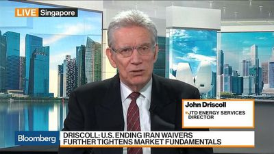 Bloomberg Markets: Asia - Oil Poised to Move Higher, JTD Energy's Driscoll Says