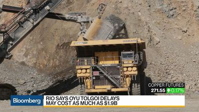 Rio Tinto Says Oyu Tolgoi Delays May Cost as Much as $1.9B