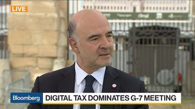 EU's Moscovici on Libra, Digital Taxation, Global Economy, IMF