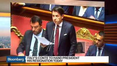 Italy's Prime Minister Conte to Hand President His Resignation