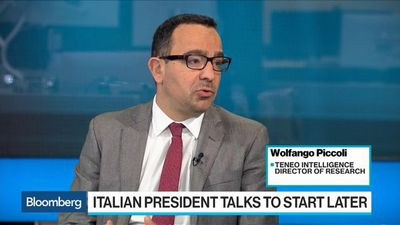 Piccoli Says Market Reaction to Italy's Political Crisis Is 'Puzzling'