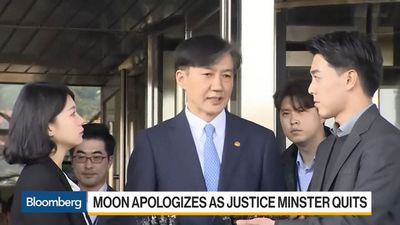 Moon Apologizes as Justice Minister Quits