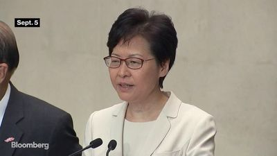 Carrie Lam to Present Policy Speech as Hong Kong Braces for Recession