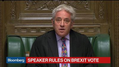 U.K.'s Bercow Blocks Vote on Johnson's Brexit Deal Today