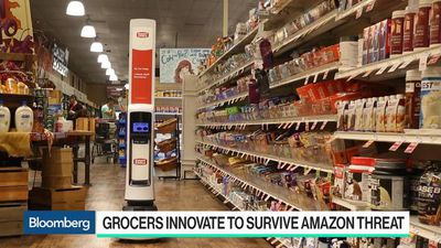 Amazon Threat Forces Grocers to Go High-Tech