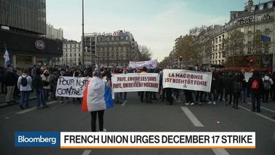 French Union Urges Dec. 17 Strike Over Pension Reform