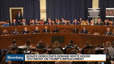Senate Democrats Demand White House Testimony on Trump Impeachment