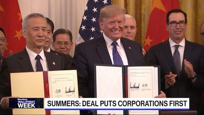 Trade Deal Puts U.S. Corporations First, says Summers - Wall Street Week
