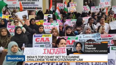 India's Opposition Lawmaker Tharoor Discusses New Citizenship Law