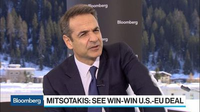 Greece's Mitsotakis Expects U.S.-EU Trade Pact, Says Turkey-Libya Deal Unacceptable