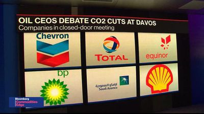 Oil CEOs at Davos Debate Tougher CO2 Cuts as Pressure Mounts