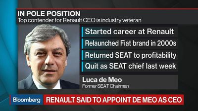 Renault Board Is Said to Consider De Meo as CEO