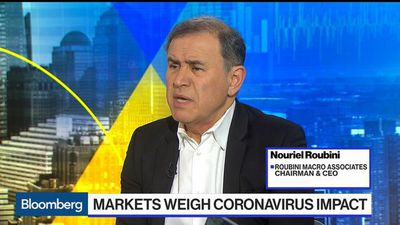 Roubini Says Hopes of a V-Shaped Virus Recovery Are Delusional