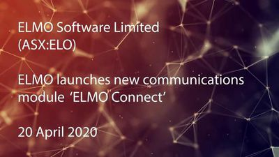 ASX: ELO - ELMO launches new communications module enabling instant messaging and Zoom meetings with